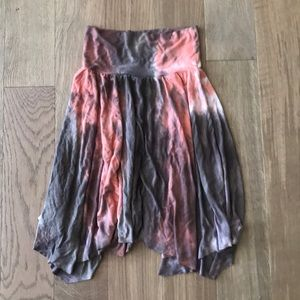 Boho tie-dye skirt. Great stretch for flexible fit